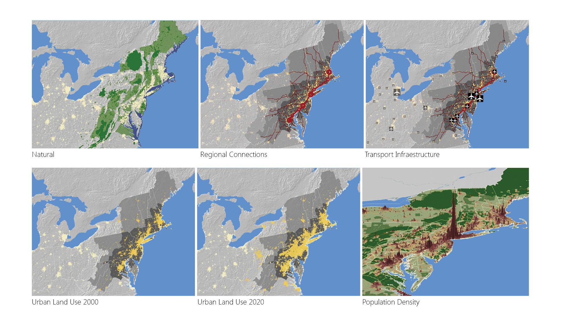 Map Of America 2050.Urban America 2050 Fundacion Metropoli