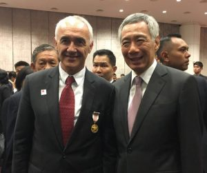"Alfonso Vegara has been granted the prestigious ""Public Service Star Award/Medal"" of Singapore"