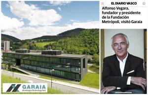 Alfonso Vegara visita el parque tecnológico Garaia
